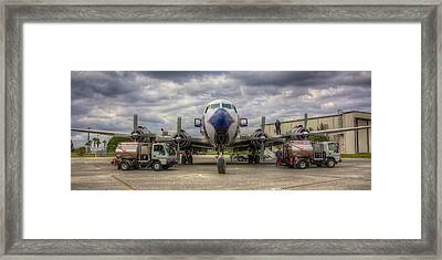 Refueling -- Eal Dc-7b Framed Print by William Wetmore