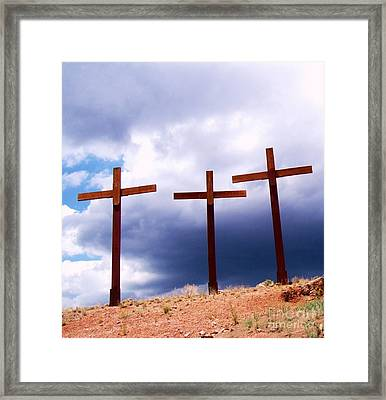 Refuge In A Time Of Storm Framed Print by Donna Parlow