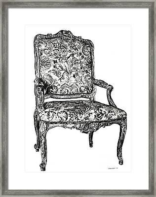 Regency Chair Framed Print by Adendorff Design