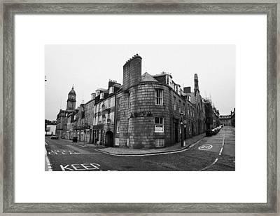 Regent Quay And Marischal Street Aberdeen Scotland Uk Framed Print