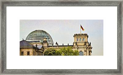Reichstag Dome Framed Print by Jon Berghoff