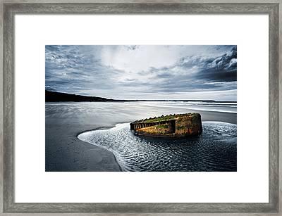 Reighton Sands Coast Framed Print by Svetlana Sewell