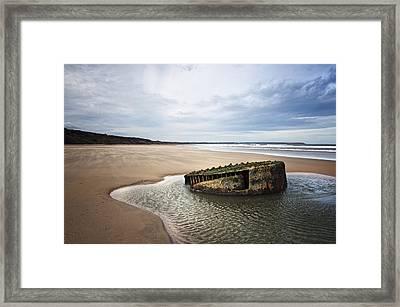 Reighton Sands Shore Framed Print by Svetlana Sewell