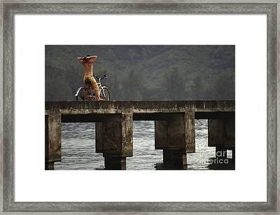 Relaxed Ride Hanalei Bay Framed Print by Bob Christopher