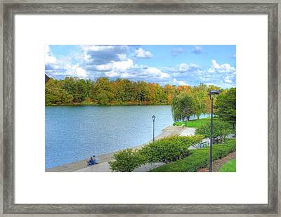 Framed Print featuring the photograph Relaxing At Hoyt Lake by Michael Frank Jr