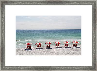 Framed Print featuring the photograph Relaxing At The Beach by Renee Hardison