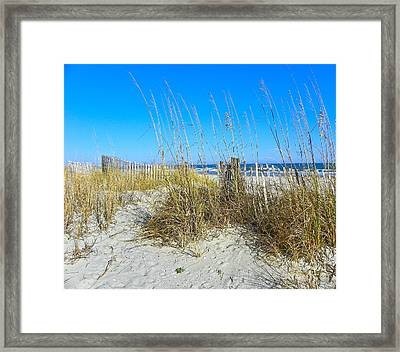 Framed Print featuring the photograph Relaxing By The Sea by Eve Spring
