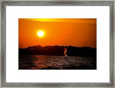Relaxing Day On Dewey Bay Framed Print by Trish Tritz
