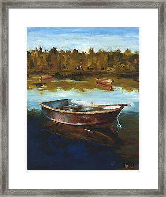 Relaxing Framed Print by Jose Romero