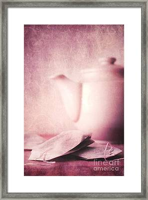 Relaxing Tea Framed Print by Priska Wettstein
