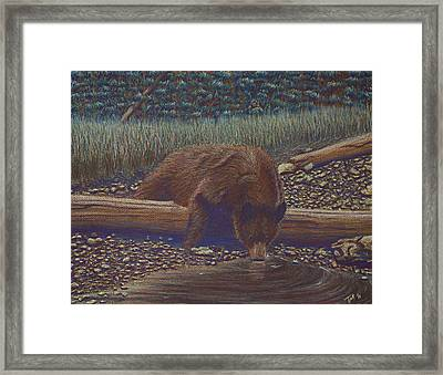 Relaxing With A Drink Framed Print by Thomas Maynard