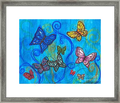 Releasing Butterflies II Framed Print