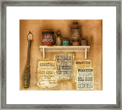 Relics Of The Old West Framed Print by Sandra Bronstein