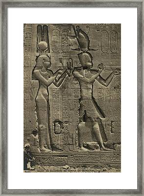 Relief Sculpture Of Cleopatra Vii 69-30 Framed Print by Everett