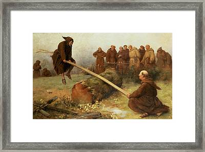 Religion Was Never Designed To Make Our Pleasure Less Framed Print by William Strutt
