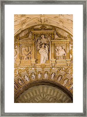 Religious Carvings In Mezquita Cathedral Framed Print by Artur Bogacki