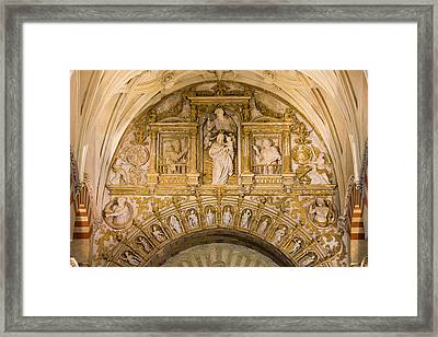 Religious Reliefs In Mezquita Cathedral Framed Print by Artur Bogacki