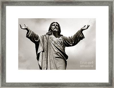 Religious Spiritual Christian Art Jesus  Framed Print by Kathy Fornal