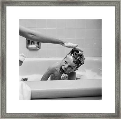 Reluctant Bather Framed Print by Ecell