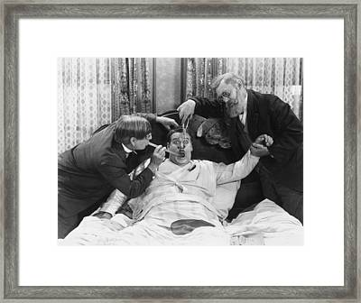 Reluctant Patient Framed Print by Archive Photos