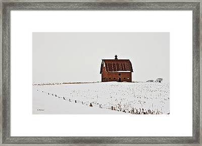 Framed Print featuring the photograph Remaining Barn by Edward Peterson