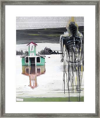 Remains Of A Flood Framed Print by Giorgio Russo
