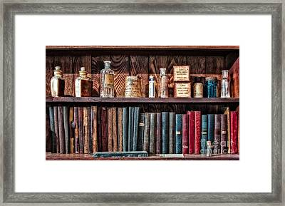 Remedies And Visiting List Framed Print by Susan Candelario