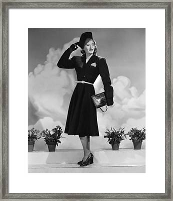 Remember The Night, Barbara Stanwyck Framed Print by Everett