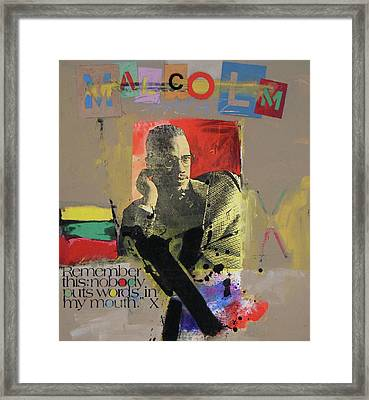 Framed Print featuring the mixed media Remember This by Cliff Spohn