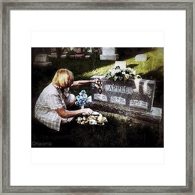 Remembering Her Little Brother Framed Print