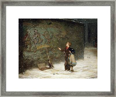 Remembering Joys That Have Passed Away Framed Print by Augustus Edward Mulready