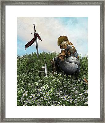 Remembering The Brave Framed Print by Melissa Krauss
