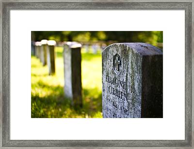 Remembering Those Who Served Framed Print by Andres Leon