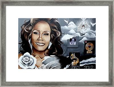 Remembering Whitney Framed Print by Alonzo Butler