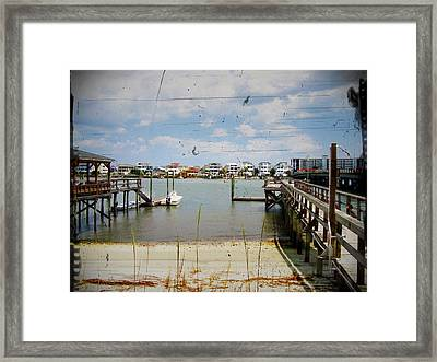 Remembering Wrightsville Beach Framed Print by Joan Meyland