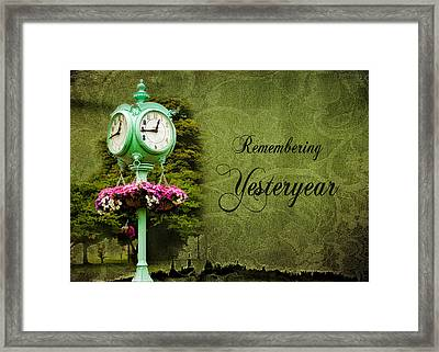 Remembering Yesteryear Framed Print by Trudy Wilkerson