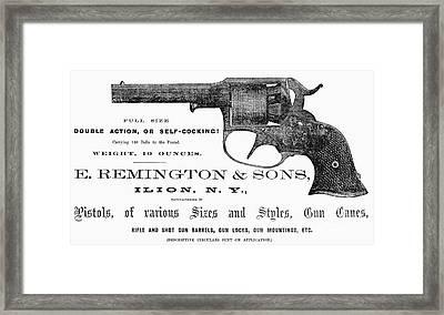 Remington Revolver Framed Print by Granger