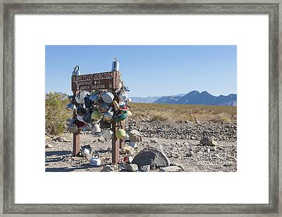 Remote Track Marker Framed Print by Dave & Les Jacobs