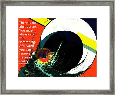 Removing Reality Framed Print by Ian  MacDonald