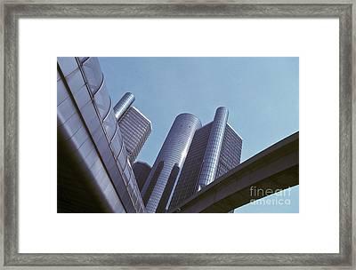 Renaissance Center In Detroit Framed Print by Will & Deni McIntyre