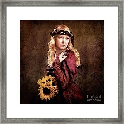 Renaissance Portrait Framed Print by Cindy Singleton