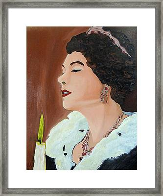 Framed Print featuring the painting Renata by Lisa Brandel