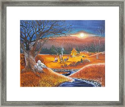 Rendezvous Framed Print by Penny Cash