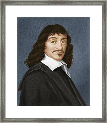 Rene Descartes, French Philosopher Framed Print