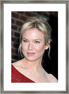 Renee Zellweger At Talk Show Appearance Framed Print