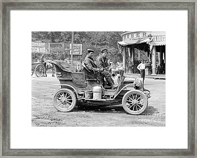 Reo Mountaineer Returns To New York 1905 Framed Print by Padre Art