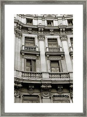 Repeating Windows Framed Print