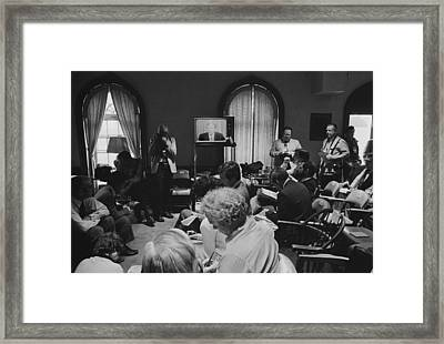 Reporters Watch President Carters Framed Print