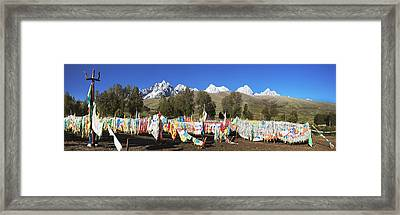 Repotacha A Meditation Retreat Framed Print by Phil Borges