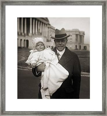 Representative Nicholas Longworth Framed Print by Everett